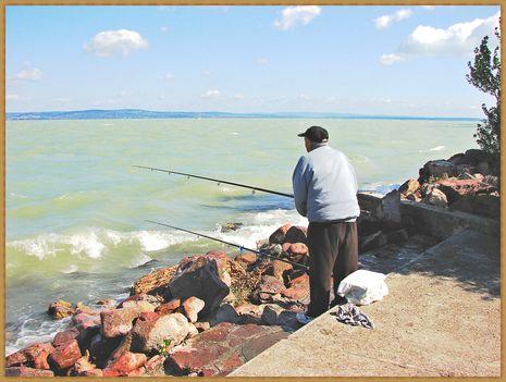 Balaton, siófoki horgászok. 5