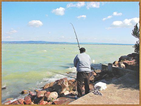 Balaton, siófoki horgászok. 6