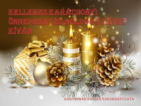 Kellemes Karácsonyt és Boldog Újévet kíván Nagybodak község Önkormányzata, 2017. december
