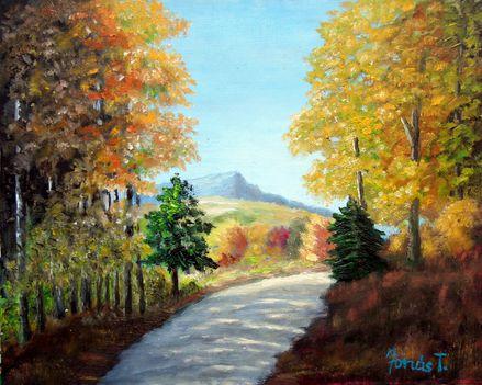 Őszi színek - 24x30, olaj, vászon