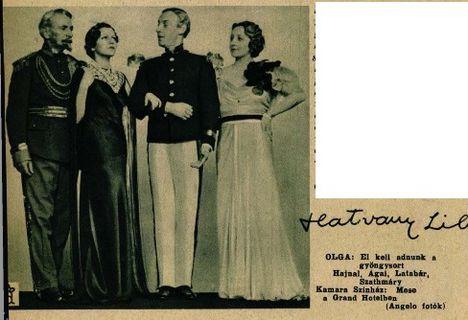 Ábrahám Pál: Mese a Grand Hotelben c. operettje premierje