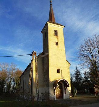 Szent Mihály arkangyal tiszteletére állított templom, Kimle, 2017. december 31.-én