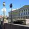 Szentpétervár, híd, lámpa, utcanév-tábla