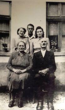 Szüts Ferencz családja az 1950-es években, Halászi