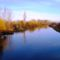 Mosoni-Duna folyó a kimlei közúti hídról az alvízi irányban nézve, Kimle, 2017. december 31.-én 1