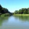Duna folyam 1849,6 fkm a Jónási Duna-ág torkolata a jobb parton, Rajka. 2016 augusztus 24.-én
