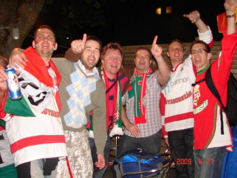 Kanada meccs utáni hangulat Zürichben