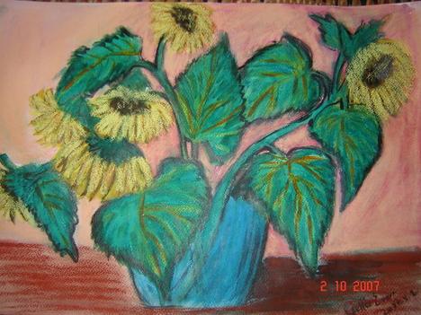 napraforgók akvarell