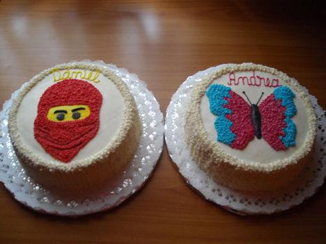 Ninjago és Pillangó torta