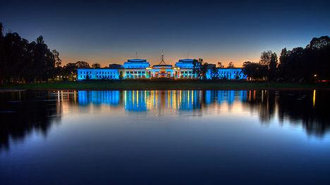 Régi Parlament kivilágítva