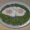 Zöldborsó főzelék tükörtojással