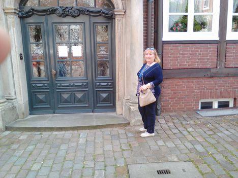 Hamburg,Johannes Brahms szülői háza előtt 2017-ben