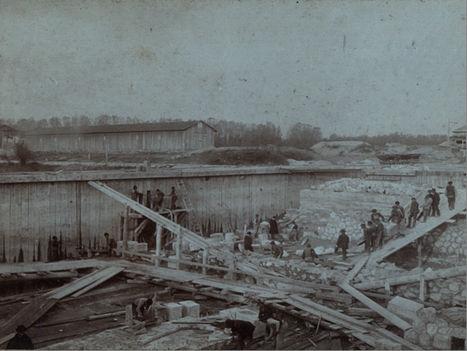 Rajkai (Trianoni) zsilip építése 1905-1908 évek között