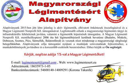 Támogassa a Magyar Légimentőket!