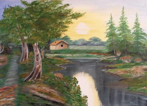 Házikó a folyóparton