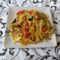 Spagetti zöldségekkel gombával