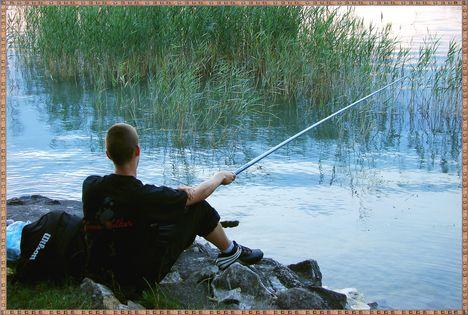 Balaton naplementéje, horgászokkal. 7