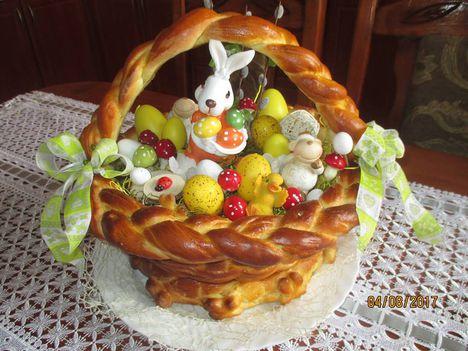 Húsvéti lakácskosár díszítve