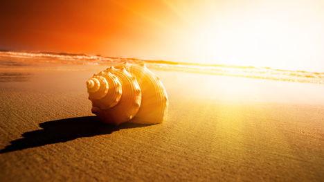 Naplemente tengerparton
