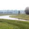 Lajta folyó az országhatári szelvényben, Márialiget Hegyeshalom, 2018. március 23.-án
