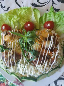Húsgolyók burgonyával  majonézzel