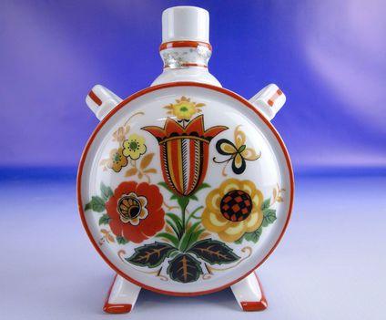 Régi Zsolnay porcelán kulacs