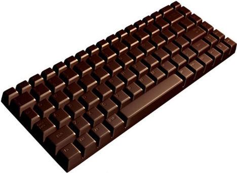 csokoládé billentyűzet