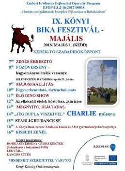 IX. Kónyi Bika Fesztivál, Majális, 2018.