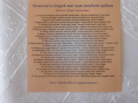 Szirmai lászló szerzői CD-jén elhangzó dalok, előadók