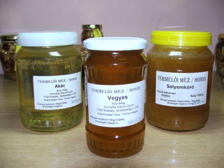 akác, vegyes, selyemkóró méz