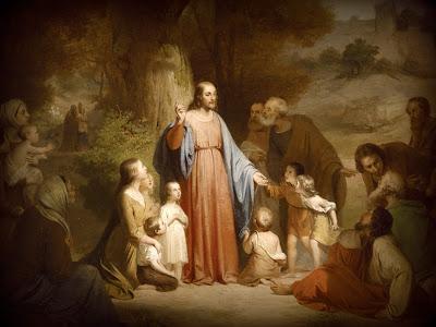 ÉVKÖZI HUSZONHATODIK HÉT ~ HÉTFŐ - Jézus a gyermekekkel.