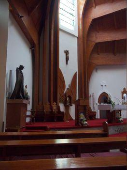 Szent Erzsébet templom beljese Héviz