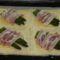 Spárgás baconos leveles tészta-sütés előtt
