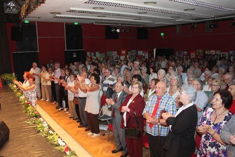 2018.máj. 18-i DANKÓ PISTA emlékére rendezett díszelőadás  hálás közönsége, Újpesten.