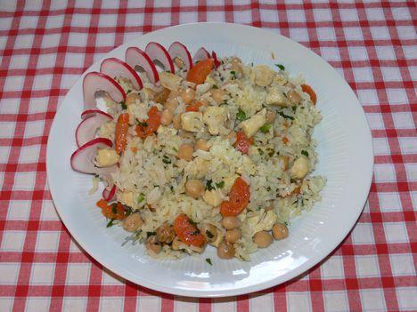 Csicseriborsós-rizses csirkemell
