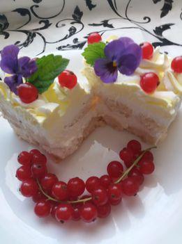 Citromos  ribizlis kocka sütés nélkül