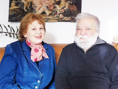 Sára Sándor filmrendező feleségével, Szegedi Erika színművésszel