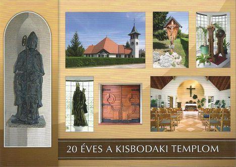 2013. képeslap 20 éves a kisbodaki  templom