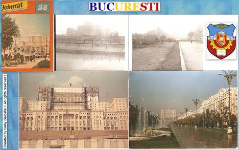 Bucureşti- A világ legnagyobb épületének, építési fázisaiból  .Fényképezőgépemmel