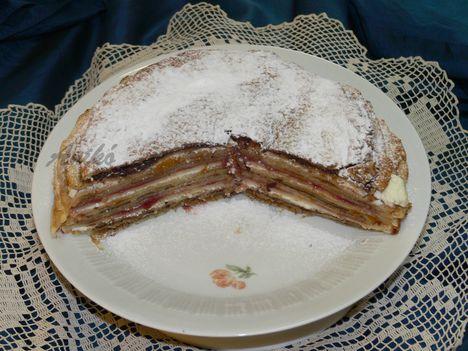 Rakott palacsinta-torta