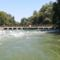 Szent Kristóf híd a Duna folyam hullámterén, Kisbodak 2018. augusztus 09.-én 2