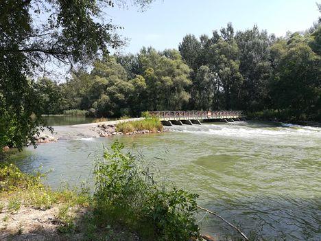 Szent Kristóf híd a Duna folyam hullámterén, Kisbodak 2018. augusztus 09.-én 5