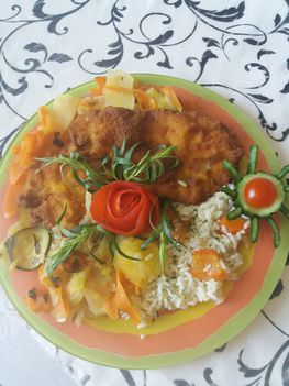 Csirkemell párolt zöldségekkel