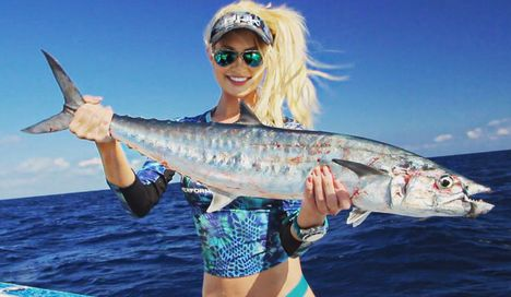 Hobbija a horgászat Brooke Thomas