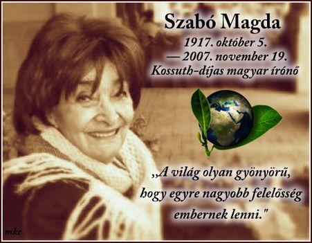 1917. 10. 05.Megszületett Szabó Magda