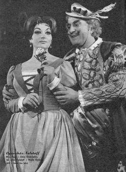 Déry Gabriella Ford Alice szerepében Melis György Falstaffjának partnereként