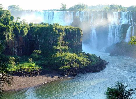 Evening Panorama of Iguazu Waterfalls