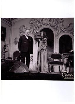 Orosz Júlia és Csortos Gyula az Aranysárga falevél c. operettben.