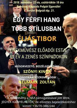 """Éliás Tibor """"EGY FÉRFI HANG TÖBB STÍLUSBAN"""