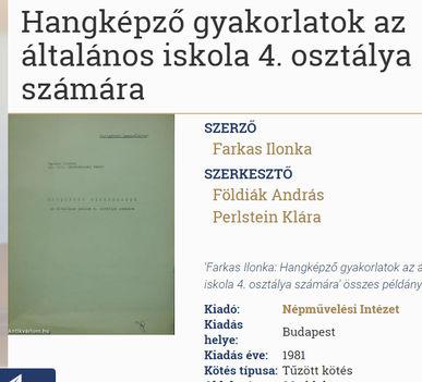 Farkas Ilonka tankönyve